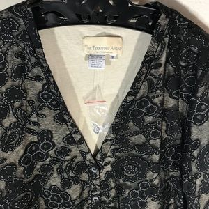 The Territory Ahead Sweaters - The Territory Ahead Lace Cardigan Black Embroider